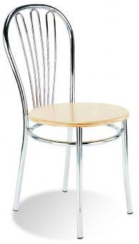 Кафе стол VEGA wood chrome