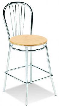 Бар стол VEGA hocker wood chrome