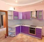 Модулни мебели за кухня МДФ розов гланц