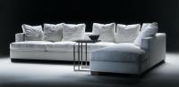 Дизайнерски бял диван