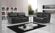 Черен диван от естествена кожа
