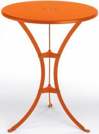 Елегантна метална кръгла маса в цвят оранж