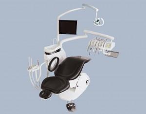 Кресло за пациента с ръчни и крачни команди