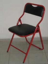 Сгъваем тапициран тръбен стол